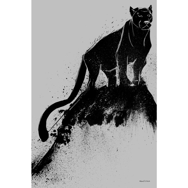 Maxwell Dickson 'Black Cat' Modern Canvas Wall Art