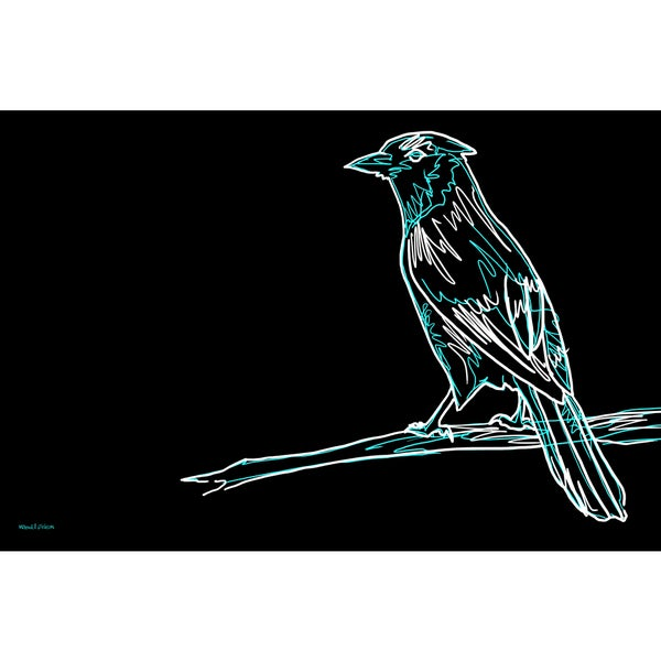 Maxwell Dickson 'Blue Jay' Modern Canvas Wall Art