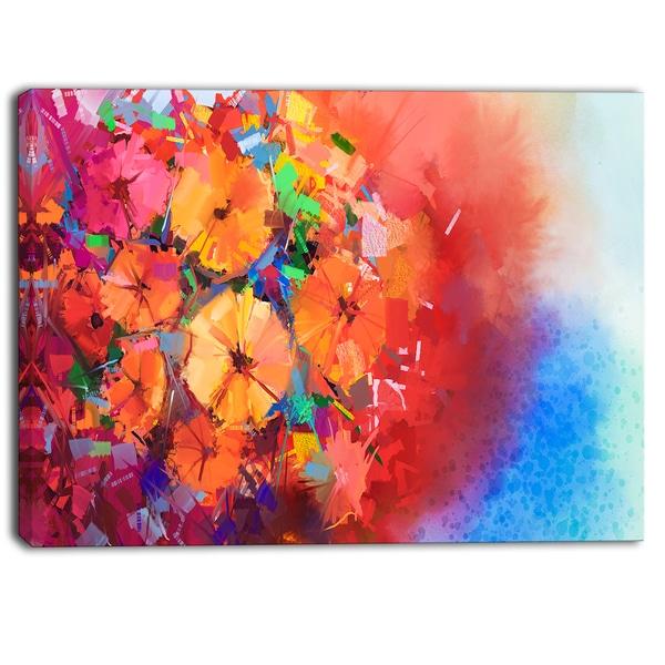 Designart - Bouquet of Gerbera Flowers - Floral Canvas Art Print