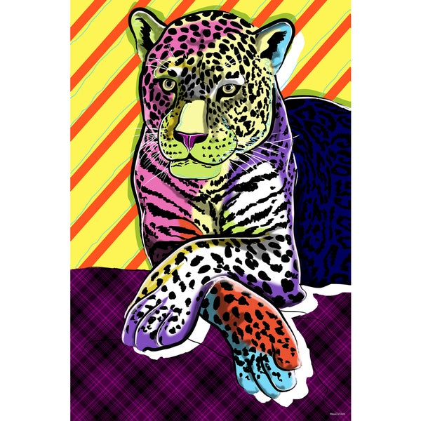 Maxwell Dickson 'Cat Colors' Modern Canvas Wall Art