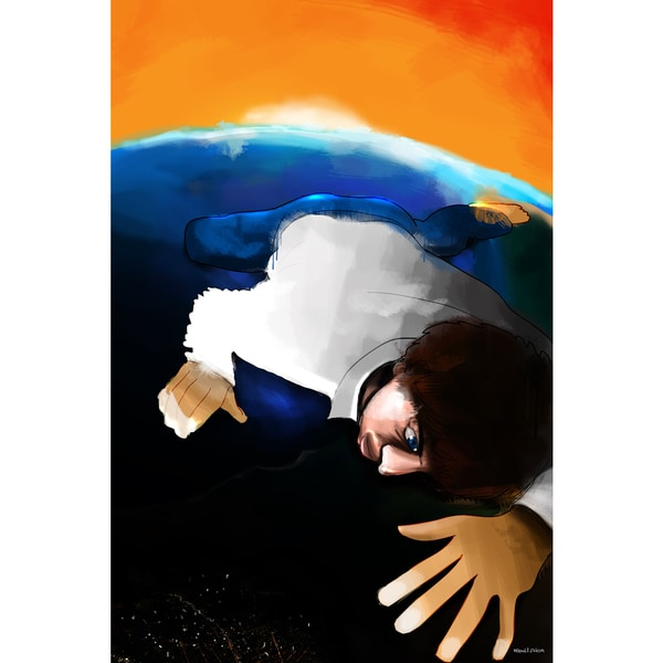 Maxwell Dickson 'Earth Guy' Modern Canvas Wall Art