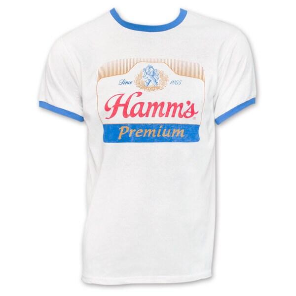 Hamm's White Logo Ringer T-Shirt