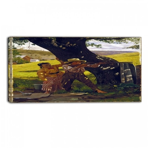 Design Art 'John George Brown - A Sure Shot' Canvas Art Print