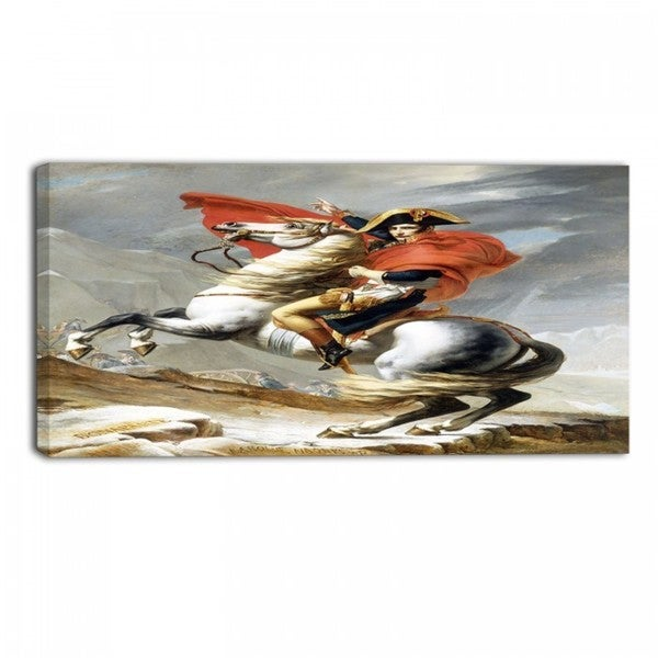 Design Art 'Jacques Louis - Crossing the Grand Saint-Bernard Pass' Army Canvas Art Print