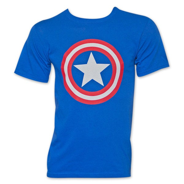Men's Royal Blue Captain America Shield T-Shirt