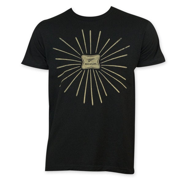Miller High Life Men's Black Fireworks T-Shirt