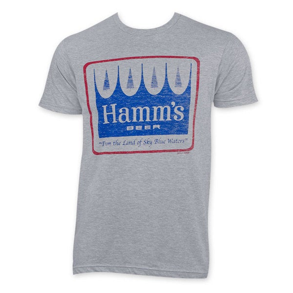 Hamm's Distressed Logo Grey T-Shirt