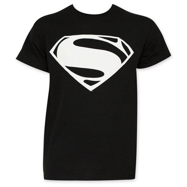 Batman VS Superman Black And White Superman Logo T-Shirt