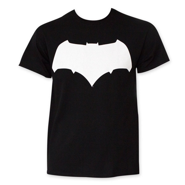 Batman VS Superman Black And White Batman Logo T-Shirt