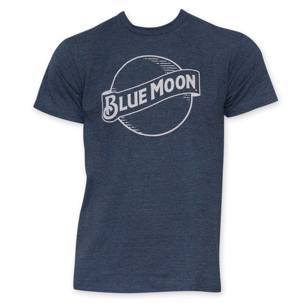 Blue Moon White Outline Logo T-Shirt