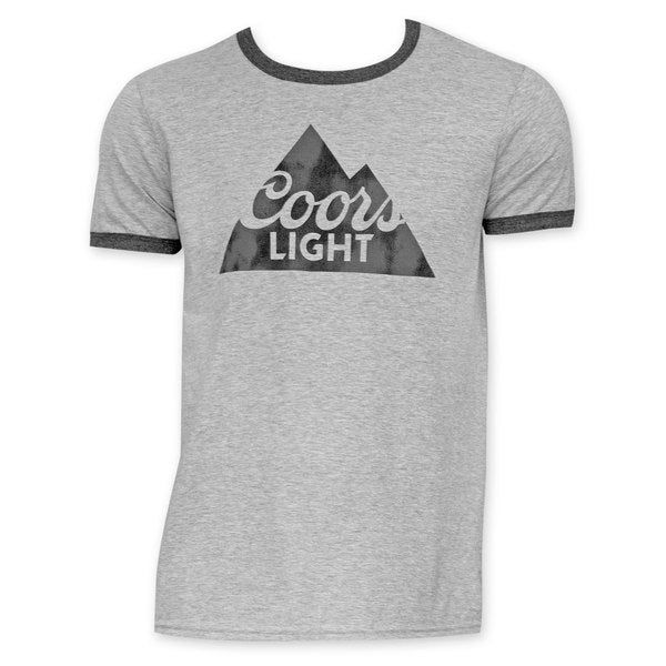 Coors Light Grey And Black Ringer T-Shirt