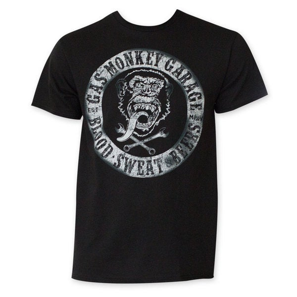 Gas Monkey Blood/ Sweat And Beers Black T-Shirt