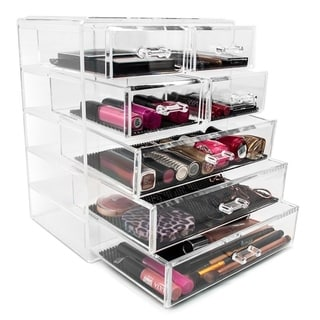 Sorbus Makeup Storage Case Display-3 Large and 4 Small Drawers