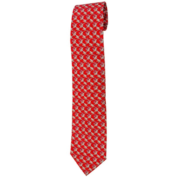 Davidoff Red Twill Silk Neck Tie