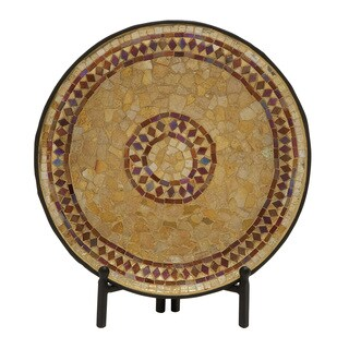 Metal Mosaic Platter with Stand