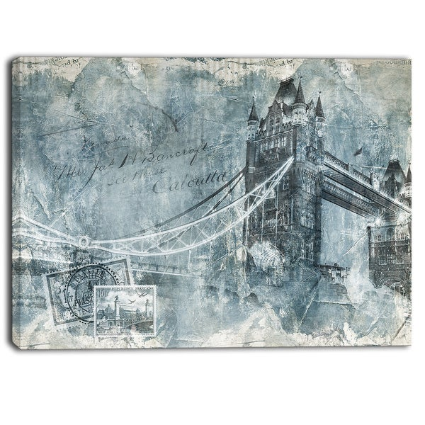 Designart - Tower Bridge London - Contemporary Canvas Art Print