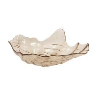 Glass Shell Bowl 16-inch x 5-inch