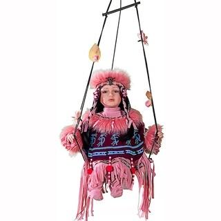 Cherish Crafts Little Sunrise 16-inch Porcelain Doll on Swing