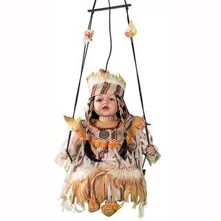 Cherish Crafts Little Dove 16-inch Porcelain Doll on Swing