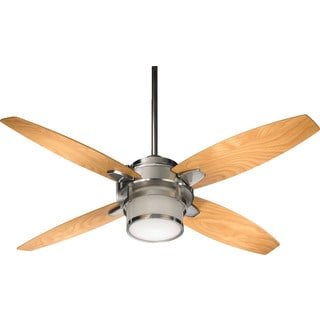 Trimark Nickel 54-inch Ceiling Fan with Light and Wall Control