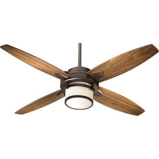 Quorum Lighting Trimark Oiled Bronze 54-inch Ceiling Fan with Light and Wall Control