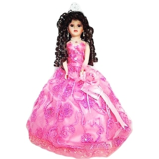 Cherish Crafts Pink 18-inch Porcelain Quinceanera Doll