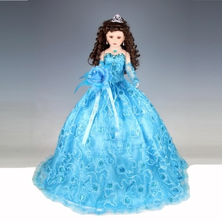 Cherish Crafts SkyBlue 28-inch Porcelain Quinceanera Doll