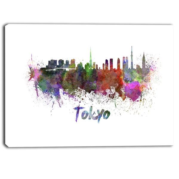 Designart - Tokyo Skyline - Cityscape Canvas Artwork Print