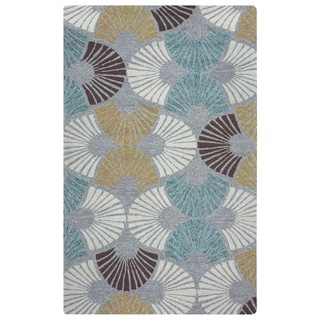 Rizzy Home Azzura Hill Collection Grey Geometric Area Rug (9' x 12')