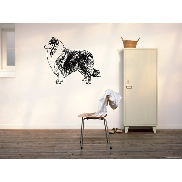 Collie Dog Exhibition Wall Art Sticker Decal