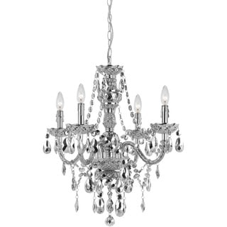 Naples Silver Four-Light Mini Chandelier