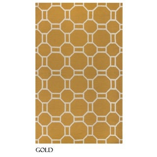 Rizzy Home Azzura Hill Collection Bi-colored Geometric Area Rug (7'6 x 9'6)
