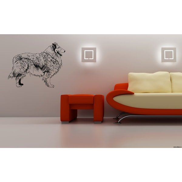 Collie Dog Stance Wall Art Sticker Decal