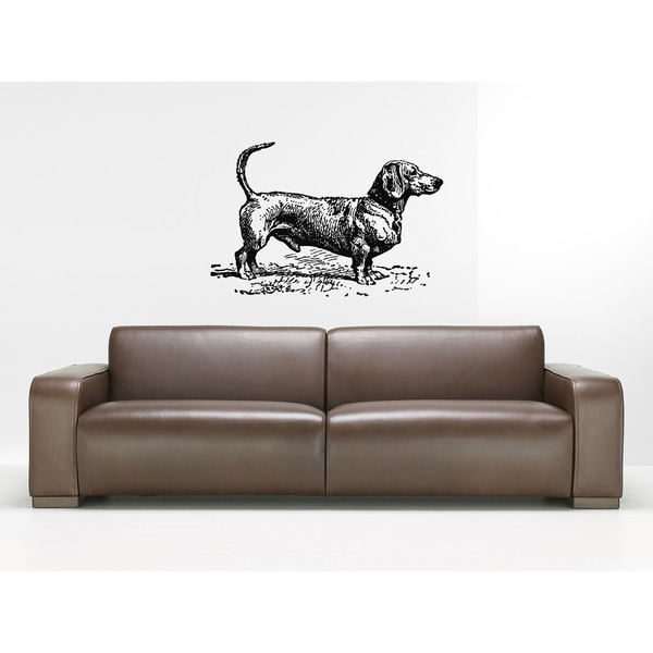 Dachshund Dog Puppy Breed Pet Wall Art Sticker Decal
