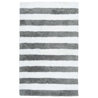 Rizzy Home Tabor Belle Collection Striped Polyester Shag Area Rug (3'6 x 5'6)