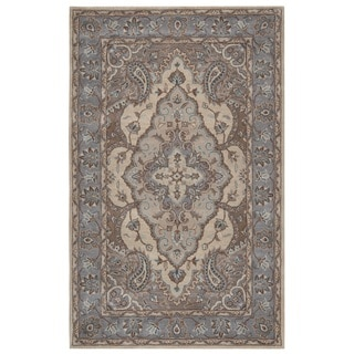 Rizzy Home Valintino Collection Multicolored Bordered Area Rug (5' x 8')