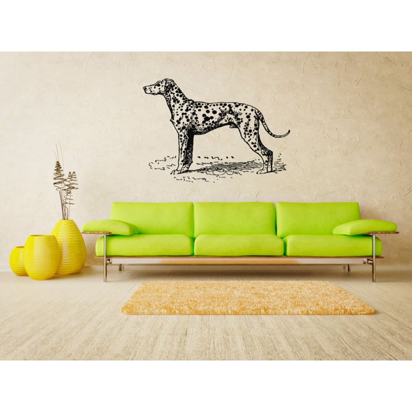 Dalmatian Dog Exhibition Wall Art Sticker Decal