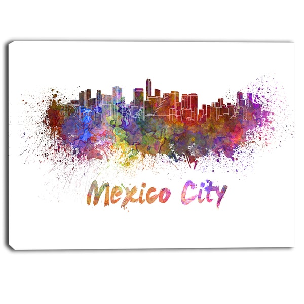 Designart - Mexico City Skyline - Cityscape Canvas Print