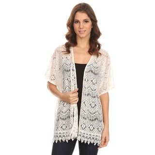 Women's Sleeved Crochet Fringe Top