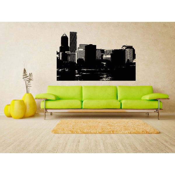 Portland Oregon Skyscrapers Wall Art Sticker Decal
