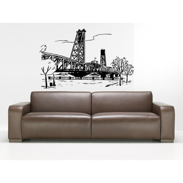Portland Oregon City Wall Art Sticker Decal