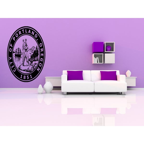 Portland Oregon Old Wall Art Sticker Decal