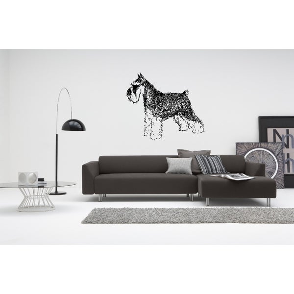 Miniature Schnauzer Dog Wall Art Sticker Decal
