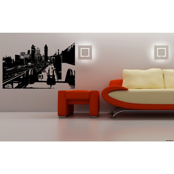 Monaco City Railways Wall Art Sticker Decal