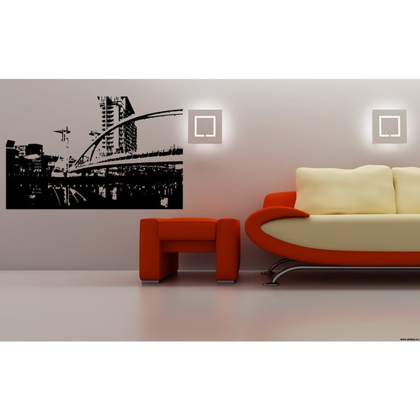 Manchester City Bridge Picture Wall Art Sticker Decal