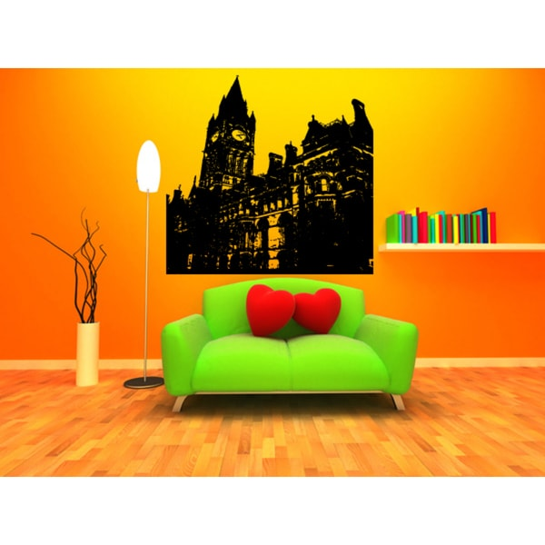 Manchester City Clock Tower Wall Art Sticker Decal