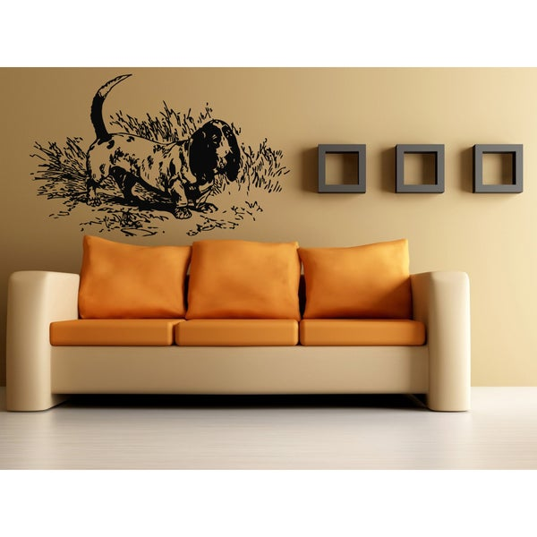 Basset Hound Dog Wall Art Sticker Decal