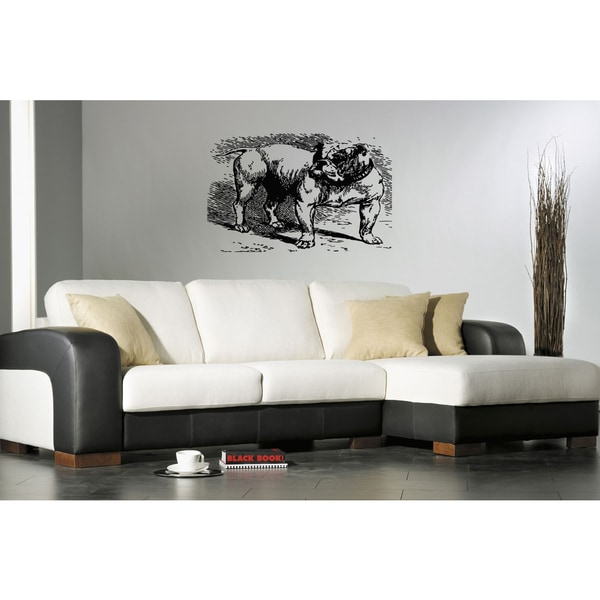 Bulldog Dog Puppy Breed Pet Wall Art Sticker Decal