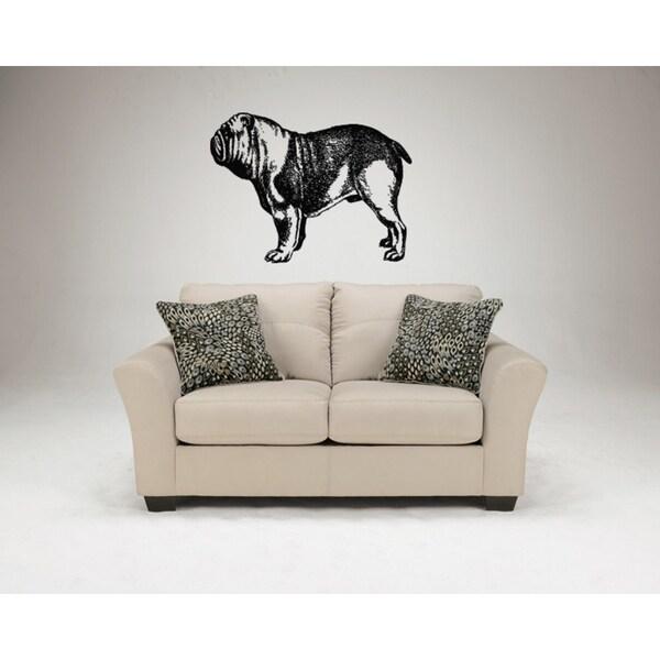 Bulldog Dog Exhibition Wall Art Sticker Decal