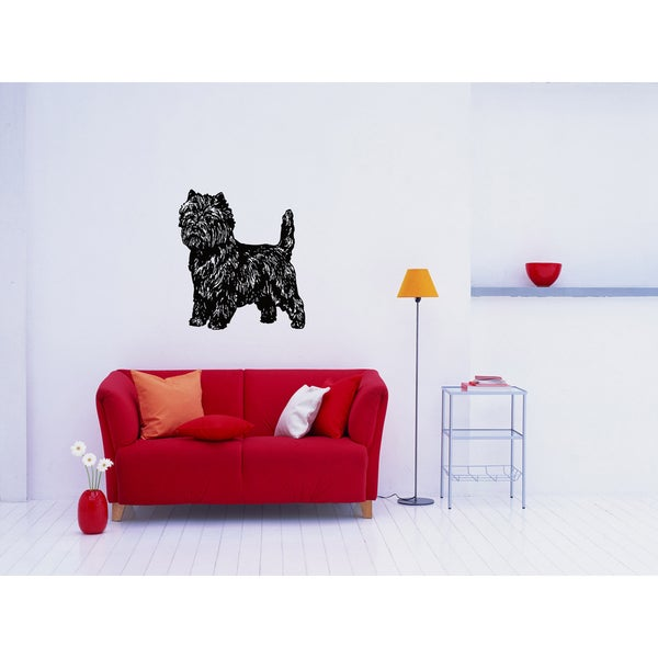 Cairn Terrier Dog Puppy Breed Pet Wall Art Sticker Decal